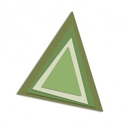 фото Набор форм-трафаретов для вырубки Sizzix Framelits Die Треугольники