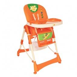 фото Стул для кормления Baby Hit комфортный. Цвет: оранжевый