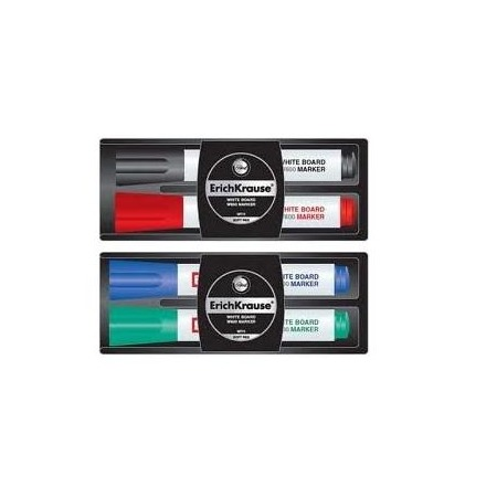 Купить Набор маркеров для досок с губкой Erich Krause W-500