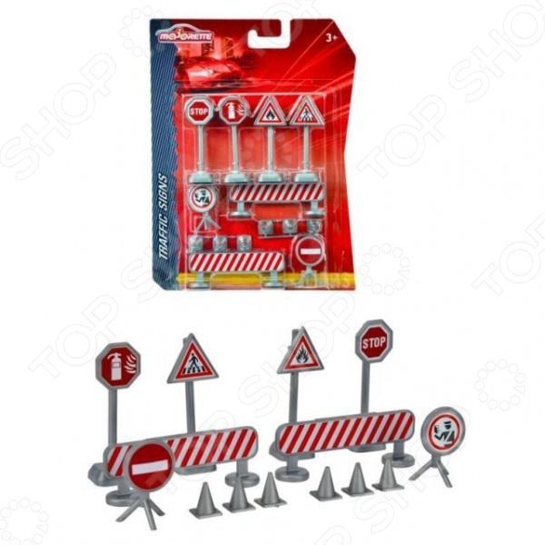 Набор игровой для мальчика Majorette «Дорожные знаки» siku игровой набор светофоры и дорожные знаки