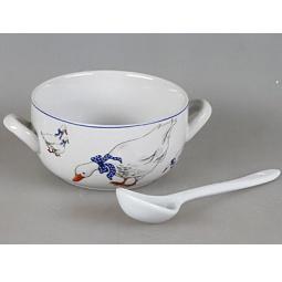 фото Набор суповых тарелок Rosenberg 9302. Рисунок: гуси