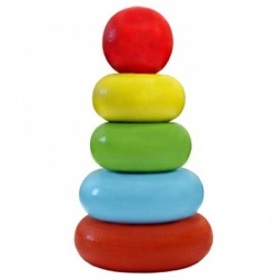 Купить Игрушка-пирамидка Alatoys «Колечки» 050105