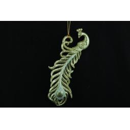 фото Елочное украшение Crystal Deco «Павлин-перо». Цвет: золотистый