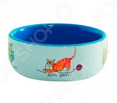 Миска для кошек Beeztees «Играющие рыбки» миска д кошек beeztees фарфоровая играющие кошки 325мл