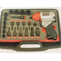 Купить Набор инструмента: пневмогайковерт с ударными головками и насадками Force F-3233