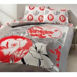 фото Комплект постельного белья TAC Carmina. 1,5-спальный. Цвет: серый