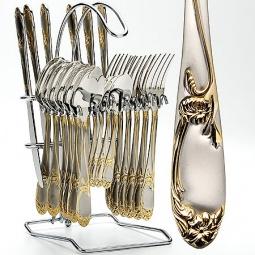 Купить Набор столовых приборов на подставке Mayer&Boch MB-23109