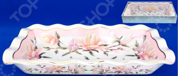 Блюдо для заливного Elan Gallery Орхидея на розовом красочная тарелка для заливного, которая внесет разнообразие в сервировку кухонных принадлежностей. Тарелка имеет форму предотвращающая вытекание за границы, при этом, предоставляя возможность с легкостью извлечь продукт. Материал абсолютно безопасен и не вступает в реакцию с продуктами, а так же не влияет на запах и вкус готового изделия. Размер 26 см.