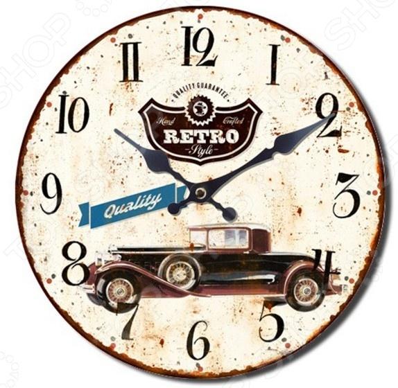 Часы настенные Mitya Veselkov «Винтажное авто-2»Часы настенные<br>Часы настенные Mitya Veselkov Винтажное авто-2 это не просто милая деталь интерьера, но и самая необходимая вещь для планирования дня! Представить свою жизнь без часов - невозможно, особенно в современном мире, где на счету каждая минута, поэтому настенные часы станут не только красивым но и полезным украшением. Настенные часы помогут подчеркнуть индивидуальность вашего интерьера, вы можете подобрать подходящую модель для каждой комнаты. Кварцевый механизм очень надёжен, а сами материалы из которых изготовлены часы отличаются повышенной износостойкостью.<br>