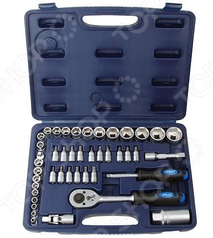 Набор с торцевыми головками и битами Apelas CS-3045PMQ-6  набор инструмента apelas cs 2053pmq 1 4 dr