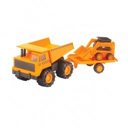 фото Набор машинок игрушечных Soma «Карьерный грузовик и минипогрузчик Бобкэт»