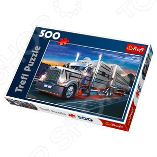 Пазл 500 элементов Trefl «Серебряный грузовик» Пазл 500 элементов Trefl «Серебряный грузовик» /