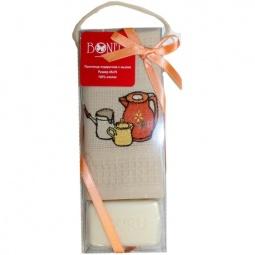 фото Комплект из вафельного полотенца и мыла подарочный BONITA «Молочник»