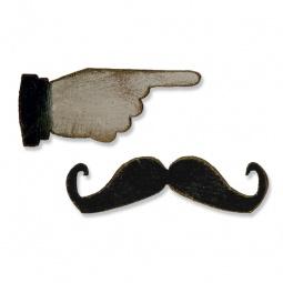 фото Форма для вырубки на магнитной основе Sizzix Movers & Shapers Die Шляпа и усы