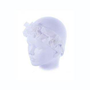 Купить Повязка детская ЧУДО-КРОХА «Роза» ЯВ119663. Цвет: белый