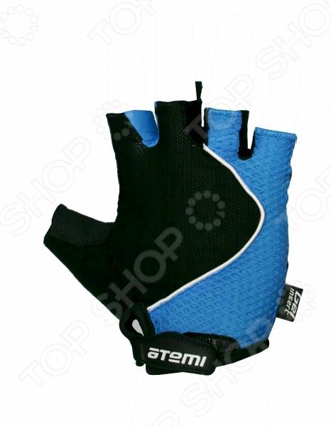 Перчатки велосипедные эргономичные Atemi AGC-02. Цвет: синий