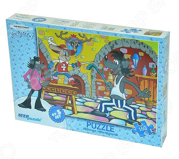 Пазл 160 элементов Step By Step «Ну, Погоди! Со шпагой» пазл 160 элементов step puzzle ну погоди рыбалка 72062