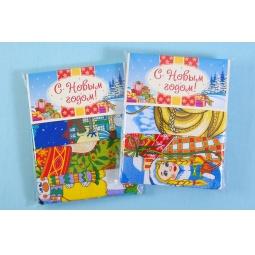 фото Комплект из 3-х кухонных полотенец новогодний ТексДизайн «Куранты, Рождество, Год обезьяны»