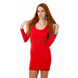 фото Платье Mondigo 9766. Цвет: красный. Размер одежды: 46