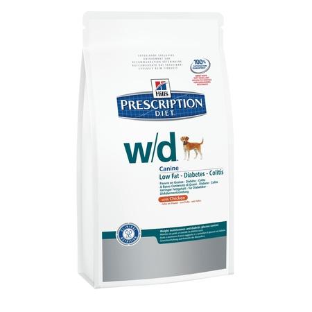 Купить Корм сухой диетический для собак Hill's W/D Prescription Diet Canine