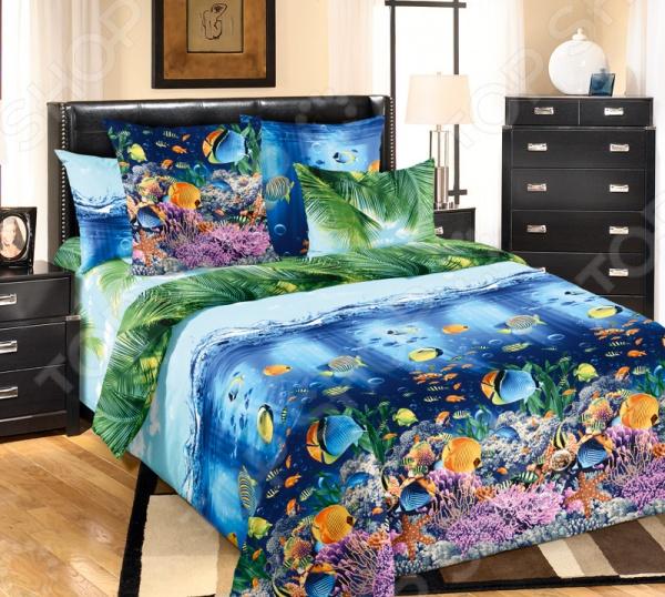 Комплект постельного белья Белиссимо «Подводный мир». Ткань: бязь комплекты белья linse комплект белья