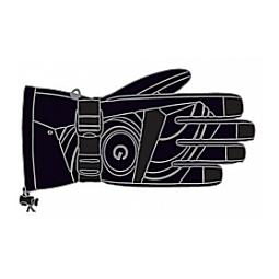 Купить Перчатки горнолыжные GLANCE Face (2011-12). Цвет: черный