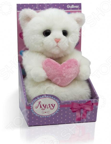 Мягкая игрушка Gulliver «Кошечка Лулу с сердечком»