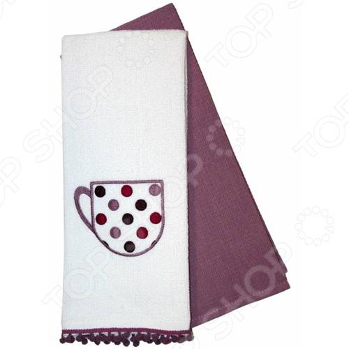 Комплект из 2-х махровых вафельных полотенец подарочный BONITA «Конфетти» набор из 3 полотенец merzuka sakura 50х90 2 70х140 8432 терракотовый