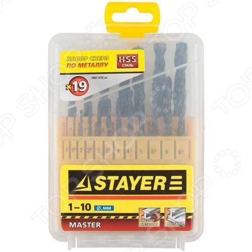 Набор сверл по металлу Stayer Master 2961-H19_z01 набор ключей комбинированных stayer master 27085 h6
