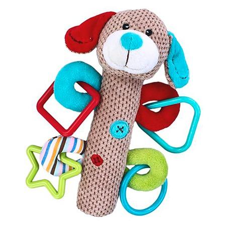 Купить Игрушка-погремушка мягкая Жирафики «Щенок с пищалкой»