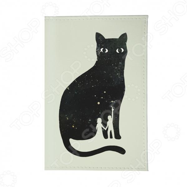 Обложка для автодокументов Mitya Veselkov «Космическая кошка»