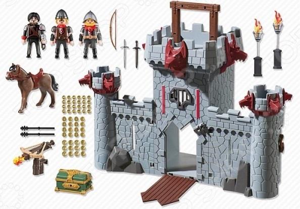 цены на Конструктор игровой Playmobil 6697 «Черный замок Барона. Супер4» в интернет-магазинах