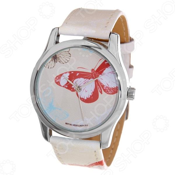 Часы наручные Mitya Veselkov «Цветные бабочки» ART часы наручные mitya veselkov цветные бабочки mv
