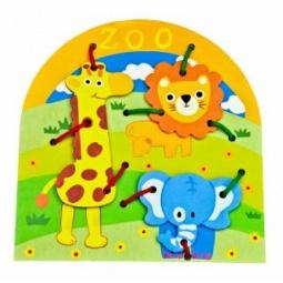 фото Игрушка развивающая Mapacha «Шнуровка. Животные»