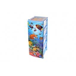 Купить Комод детский 4-х секционный Violet 0352 «Океан»