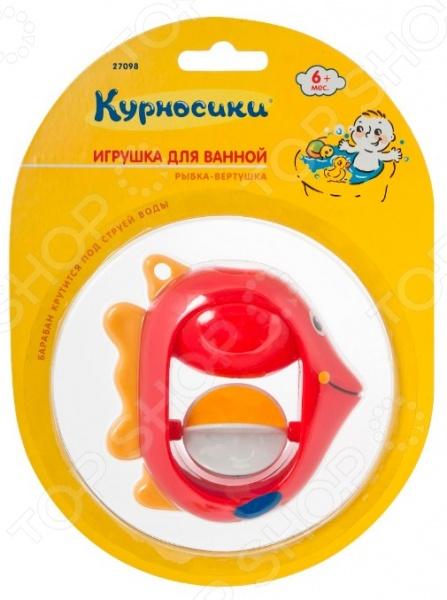 фото Игрушка для ванной Курносики «Рыбка-вертушка», Игрушки для ванной