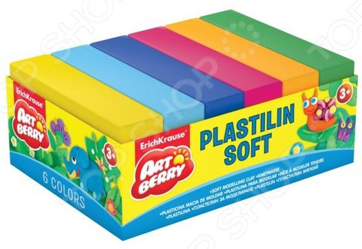 Набор пластилина мягкого Erich Krause 33303Лепка из пластилина<br>Набор пластилина мягкого Erich Krause 33303 предназначен для таких маленьких, но уже таких любознательных малышей. В яркой коробке находятся 6 брусочков пластилина разного цвета, из которых ваш ангелочек сможет слепить буквально все, что захочет. Пластилин крайне пластичен, не липнет к рукам и не высыхает на открытом воздухе. Представленный набор нетоксичен и абсолютно безопасен для здоровья. Лепка развивает усидчивость, фантазию, образное восприятие и логическое мышление. Кроме того, у ребенка тренируется зрительная координация и мелкая моторика рук. Не упустите шанс порадовать юного мастера замечательным подарком! Вес одного бруска составляет 50 граммов. Набор поставляется в картонном поддоне.<br>