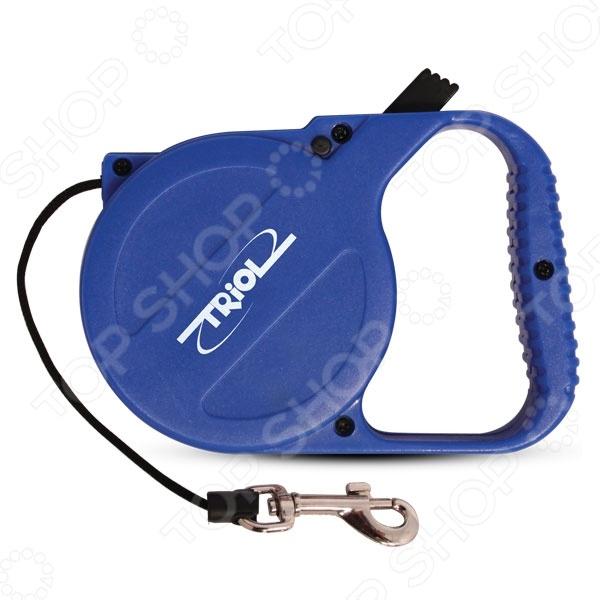 Поводок-рулетка TRIOL Р-00100 цепь поводок для собак triol с кожаной ручкой 3х110х10см