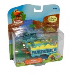 Купить Набор игровой Поезд Динозавров «Морис с вагончиком»