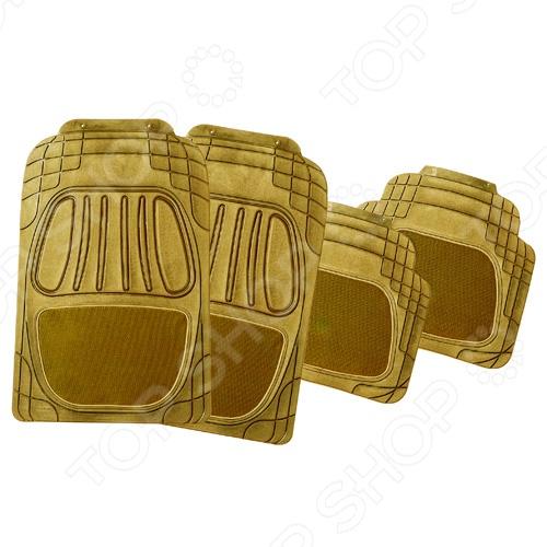 Набор ковриков Автостоп AB-2004 прекрасно защитит салон вашего автомобиля от случайно вылитых жидкостей и загрязнений в любое время года. Они изготовлены из мягкого, легкого и эластичного материала и не имеют запаха. Кроме того, качественные оригинальные коврики обеспечат комфорт ногам водителя и пассажиров. В набор входят 4 резиновых коврика размером 72х47 см и 48х43,5 см.