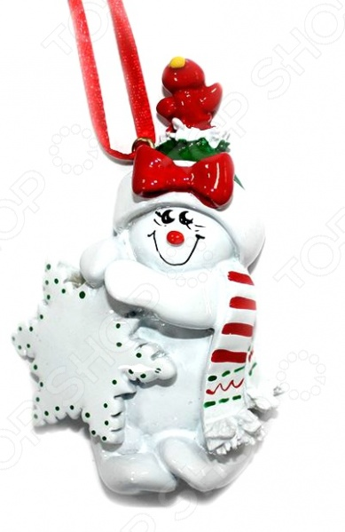 Елочное украшение Crystal Deco «Снеговик» 1707847