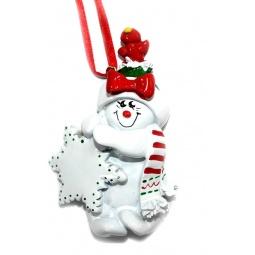 фото Елочное украшение Crystal Deco «Снеговик» 1707847