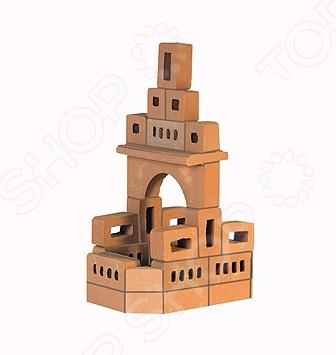 Конструктор из глины Brick Master «Кирпичики. Родник 2 в 1»Другие виды конструкторов<br>Конструктор из глины Brick Master Кирпичики. Родник 2 в 1 позволит вашему ребенку почувствовать себя настоящим строителем. Возводить постройку придется из настоящих кирпичей из обожженной глины и скреплять их цементом . В комплект входят 35 кирпичей, цемент из крахмала с речным песком, мастерок, подставка для постройки, специальная емкость для разведения смеси и инструкция.<br>