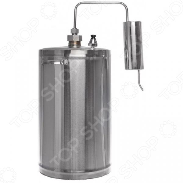 Самогонный аппарат с клапаном контроля давления Первач «Эконом 12»Домашние мини-пивоварни. Самогонные аппараты<br>Самогонный аппарат с клапаном контроля давления Первач Эконом 12 , используемый для получения самогона в домашних условиях. Принцип работы прибора основан на методе дистилляции, а именно на испарении спирта с его последующей конденсацией. Зачастую, самогонные аппараты-дистилляторы применяют для перегонки браги в спирт-сырец для последующей ректификации, либо, когда нужно максимально передать вкус исходного сырья. Дистиллятор выполнен из высококачественной, не вступающей в реакции окисления, нержавеющей стали и оборудован охладителем, перегонным кубом и клапаном сброса избыточного давления. Состав комплекта:  Перегонный куб  Охладитель  Клапан контроля избыточного давления.<br>