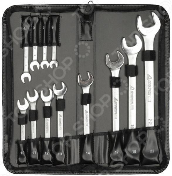 Набор ключей комбинированных Stayer Professional 2-271256-H12 набор резьбонарезной трубный stayer professional 28260 h4