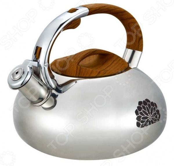 Чайник со свистком Mayer&amp;amp;Boch MB-23590. В ассортиментеЧайники со свистком и без свистка<br>Товар продается в ассортименте. Цвет изделия при комплектации заказа зависит от наличия товарного ассортимента на складе. Чайник со свистком Mayer Boch MB-23590 изделие привлекательного дизайна, которое будет не просто полезным аксессуаром на кухне, но и ее украшением. Большой объем чайника позволяет закипятить в нем достаточно воды для чаепития всей семьей. Свисток своевременно оповестит вас о закипании воды, так что вы можете не волноваться, что она случайно выкипит. Предусмотрен специальный механизм открытия свистка, предотвращающий вероятность обжечься паром. На корпусе чайника есть индикатор нагрева в виде цветка, который начинает краснеть при температуре воды выше 40 градусов.<br>