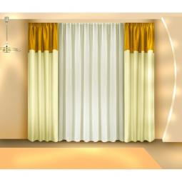Купить Комплект штор Zlata Korunka Б097. Цвет: золотистый. Уцененный товар