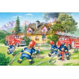 Купить Пазл 40 элементов MAXI Castorland «Пожарные»