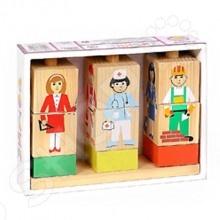 кубики томик кубики цветные 20шт Кубики обучающие Томик на палочке «Профессии»