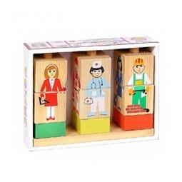 Купить Кубики обучающие Томик на палочке «Профессии»